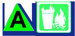 บริษัท สงขลา ไบโอแมส จำกัด สัญลักษณ์ของถังดับเพลิงแบ่งตามประเภทของไฟ ตามข้อกำหนดมาตรฐานสากล (มาตรฐาน NFPA 10)